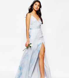 Платье макси с бретельками сзади Fame and Partners Deco Lily - Мульти