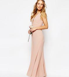 Платье макси с асимметричным краем Fame and Partners Everland - Розовый