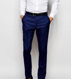 Зауженные брюки под смокинг эксклюзивно для Selected Homme - Синий