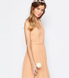 Платье на одно плечо Vila - Розовый