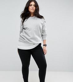 Эластичные облегающие брюки длиной до щиколотки ASOS CURVE - Черный
