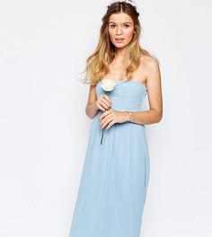 Платье-бандо миди Vila - Синий