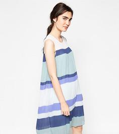 Плиссированное платье в стиле колор блок Y.A.S - Мульти