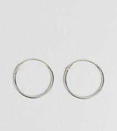 Серебряные серьги-кольца 20 мм Kingsley Ryan - Серебряный
