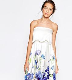 Приталенное платье 2 в 1 с цветочным принтом Hope and Ivy - Мульти