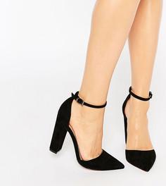 Туфли на каблуке с острым носком ASOS PENALTY - Черный