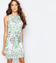 Цельнокройное платье с отделкой Frock and Frill - Мульти