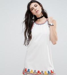 Цельнокройное платье с яркой вышивкой Glamorous Tall - Мульти