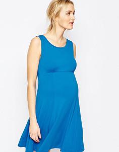 Приталенное платье без рукавов Isabella Oliver - Синий