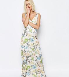 Платье макси с цветочным принтом Every Cloud Broken Yang - Мульти