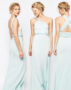 Платье-трансформер макси TFNC Petite WEDDING - Зеленый