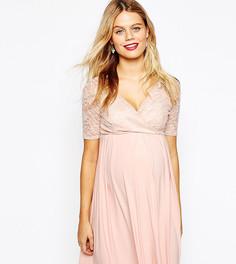 Платье миди для кормящих мам ASOS Maternity - Розовый