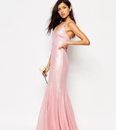 Платье макси с пайетками Fame and Partners Shimmer Soul - Розовый