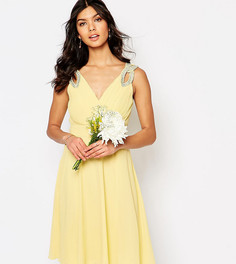 Платье для выпускного с декорированными плечами TFNC WEDDING - Желтый