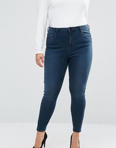 Облегающие джинсы с завышенной талией ASOS CURVE - Синий