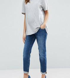 Выбеленные джинсы бойфренда для беременных ASOS Maternity Kimmi - Синий