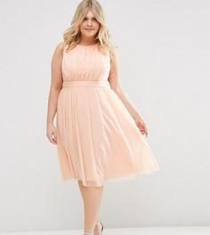 Платье миди ASOS CURVE - Розовый