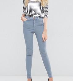 Серые джинсы скинни с завышенной талией ASOS TALL Ridley - Синий