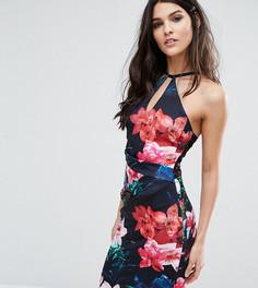 Облегающее платье с вырезом капелькой Lipsy - Черный