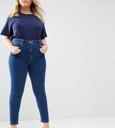 Синие зауженные джинсы ASOS CURVE Ridley Kelsey - Синий