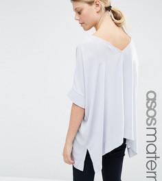Свободная футболка‑кимоно для беременных с V‑образным вырезом сзади ASOS Maternity - Серый