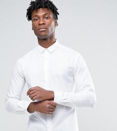 Рубашка скинни в елочку с заостренным воротником Heart & Dagger - Белый