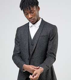Зауженный пиджак из крапчатой ткани с лацканами наклонной формы Noak - Черный
