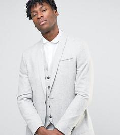 Супероблегающий пиджак в крапинку с лацканами наклонной формы Noak - Серый