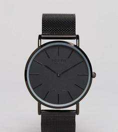 Черные классические часы с сетчатым браслетом Reclaimed Vintage Inspired эксклюзивно для ASOS - Черный