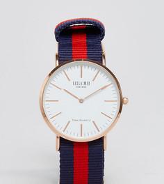 Часы с полосатым парусиновым ремешком (темно-синий/красный) Reclaimed Vintage Inspired эксклюзивно для ASOS - Синий