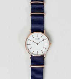 Часы с синим парусиновым ремешком 36 мм Reclaimed Vintage Inspired эксклюзивно для ASOS - Синий