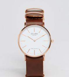 Часы с коричневым кожаным ремешком 36 мм Reclaimed Vintage Inspired эксклюзивно для ASOS - Коричневый