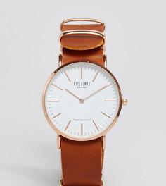 Часы со светло-коричневым кожаным ремешком 36 мм Reclaimed Vintage Inspired эксклюзивно для ASOS - Рыжий