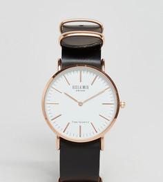 Часы с черным кожаным ремешком 36 мм Reclaimed Vintage Inspired эксклюзивно для ASOS - Черный