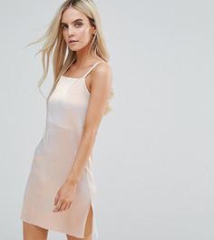 Платье мини цвета металлик ASOS PETITE - Коричневый