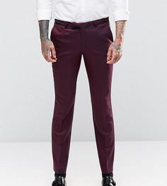 Атласные супероблегающие брюки стретч Noose & Monkey - Красный