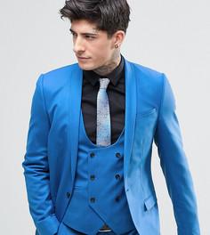 Супероблегающий пиджак Noose & Monkey - Синий