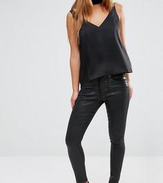Черные джинсы с покрытием ASOS PETITE SCULPT ME Premium - Черный