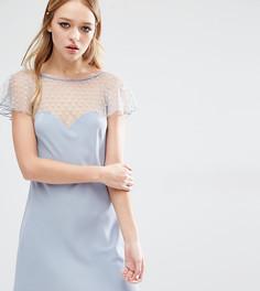 Платье с полупрозрачной вставкой Reclaimed Vintage - Серый
