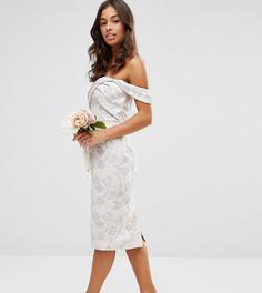 Жаккардовое платье‑футляр миди ASOS PETITE WEDDING - Мульти