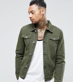 Джинсовая куртка цвета хаки Liquor N Poker - Зеленый