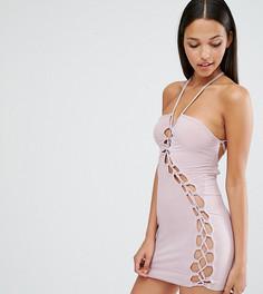 Платье мини с решеткой из лямок Club L Sexy Dare - Фиолетовый