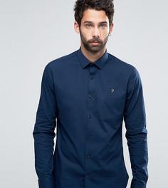 Классическая узкая рубашка стретч Farah - Темно-синий