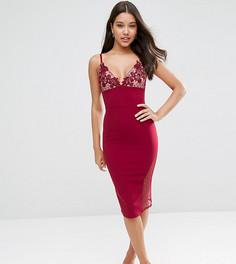 Облегающее платье миди ASOS PETITE - Красный