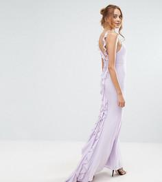 Платье макси с оборкой сзади Jarlo Tall - Розовый