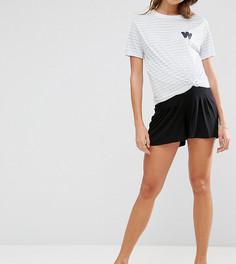 Плиссированные шорты для беременных ASOS Maternity - Черный
