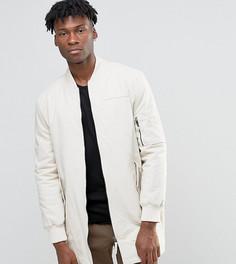 Удлиненная куртка‑пилот The New County - Светло-серый