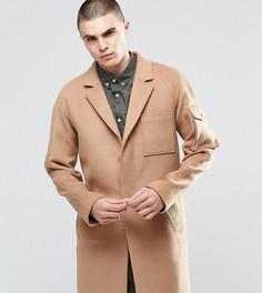 Шерстяное пальто Underated - Светло-серый