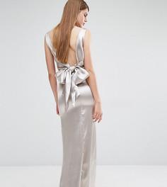 Драпированное платье макси с завязкой сзади True Violet - Светло-серый