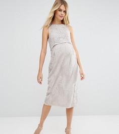 Двухслойное кружевное платье для беременных ASOS Maternity - Фиолетовый